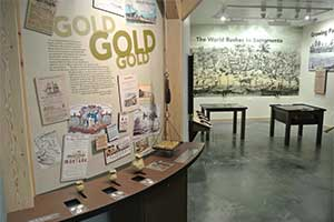 Gold Rush exhibit, California Trail Interpretive Center, Elko