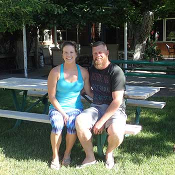 Candace and Chad Kelly at Miles End B&B, Kingstn Nevada