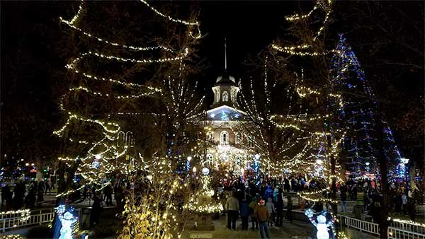 2016 Christmas lights at the state capitol, Carson City Nevada