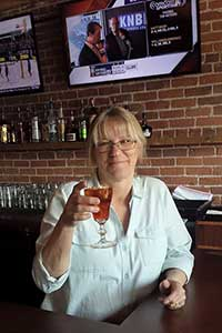 Carolyn, afternoon bartender at the Overland in Gardnerville Nevada