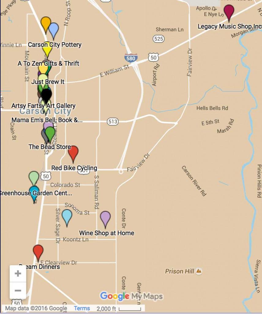 Carson City Nevada map