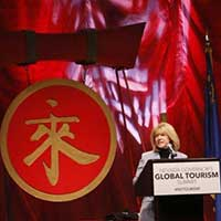 Nevada's Tourism Director Claudia Vecchio at the 2016 Governor's Global Tourism Summit