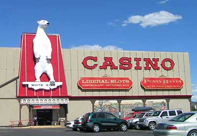 Iconic Polar Bear at the Commercial Hotel, Elko Nevada
