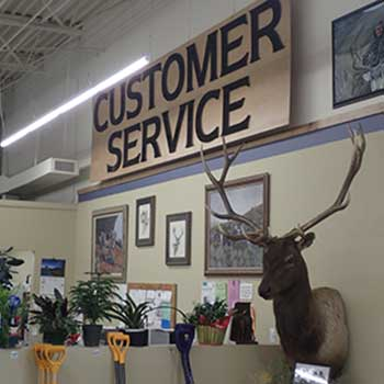Customer service at Raine's Market in Eureka Nevada