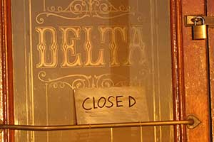 The world-famous Delta Saloon in Virginia City Nevada is now closed
