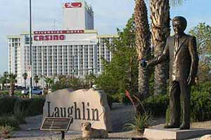 Don Laughlin and Shorty the Wonder Dog at Laughlin Nevada