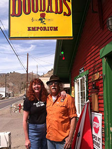 Will and Sheree at Doodad's in Silver City Nevada