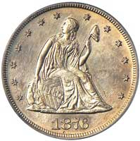 20-cent piece minted in San Francisco 1975