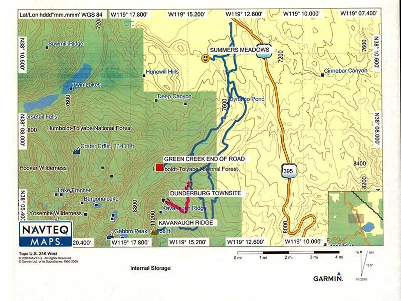Dunderberg Map