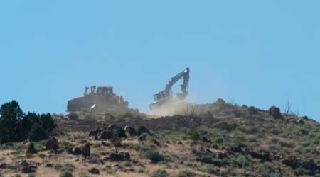 Core drilling dust in the Mercury Superfund site