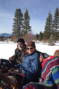David & Robin aboard the Borges sleigh at Lake Tahoe