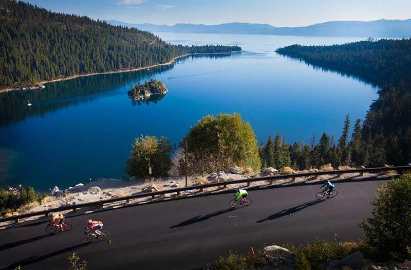 Cycling Lake Tahoe