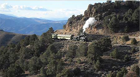 The V&T Railroad en route from Carson City to Virginia City Nevada