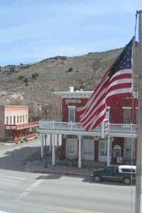 Jackson House from the Eureka County Court House, Eureka Nevada