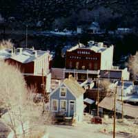 The Doll House, overlooking downtown Eureka Nevada