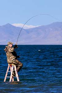 Fisherman at Pyramid Lake Nevada