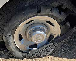 Flat tire on the van