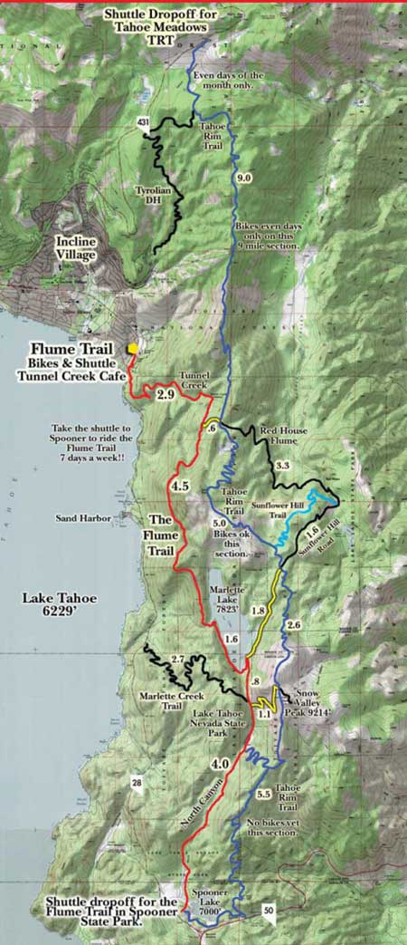 Flum Trail map