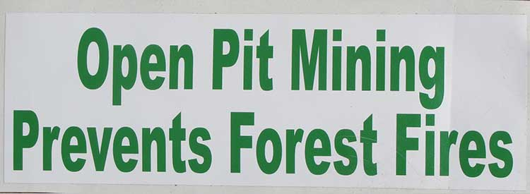 Open Pit Mining and Forest Fires