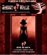 Carson City's ghost walking tours with Madame Curry