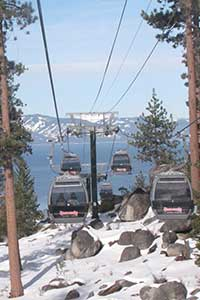 Heavenly Valley gondolas, Lake Tahoe