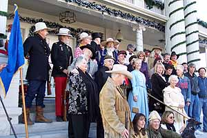 Silver City Guard at the Governor's Mansion, Carson City Nevada