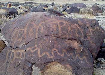 Grimes Point petroglyphs, US 50 east of Fallon Nevada