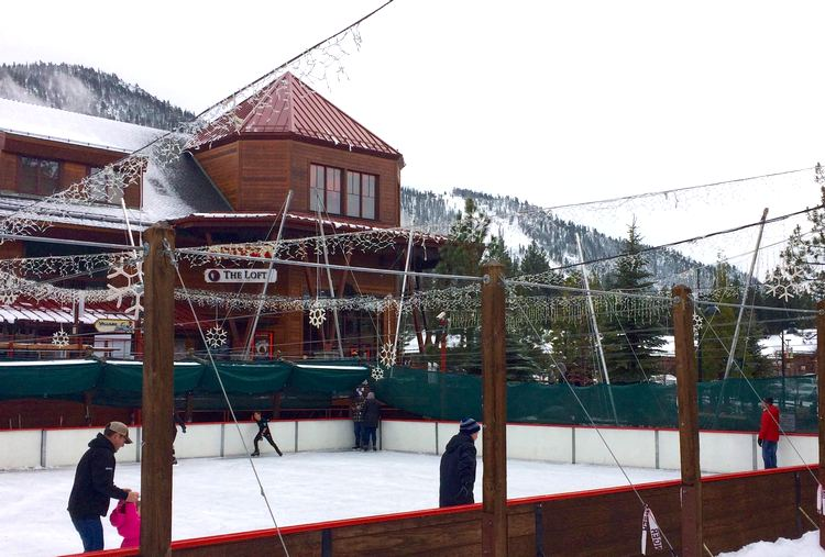 The ice skating rink at Heavenly Village