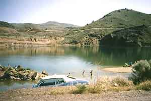 Swimming hole along the Humboldt River in Nevada