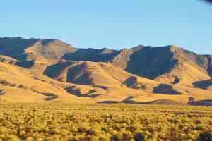 I-80 Nevada, late sun