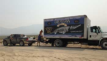 Ichthyosaur fossils sent in Icky truck to the lab in Los Angeles