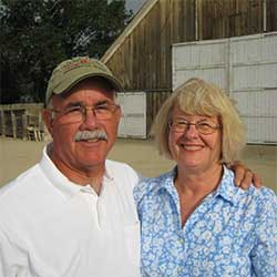 Jack and Elaine Jacobs, berry farmers in Gardnerville Nevada