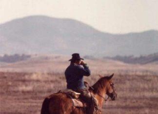 Joe Brown on horseback.
