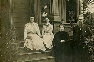 John Muir, wife Louie and daughters June and Wanda at their Martinez California home