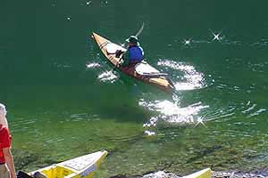 kayak, Colorado River near Laughlin