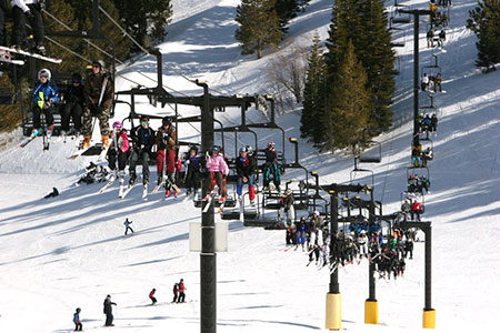 Kids on lifts, Sky Tavern, Lake Tahoe Nevada
