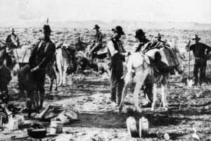Herman Knickerbocker Prospecting at Rawhide Nevada
