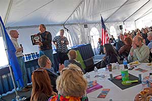 Larry Friedman honored the the 25th Rural RoundUp