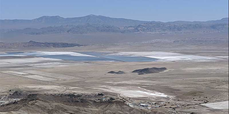 Lithium ponds, Silver Peak Nevada