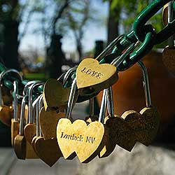 The Lovers' locks at Lovelock Nevada