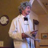 McAvoy Layne as Sam Clemens at the Old Corner Bar, Piper's Opera House Virginia City Nevada