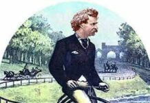 Mark Twain Rides a Bicycle