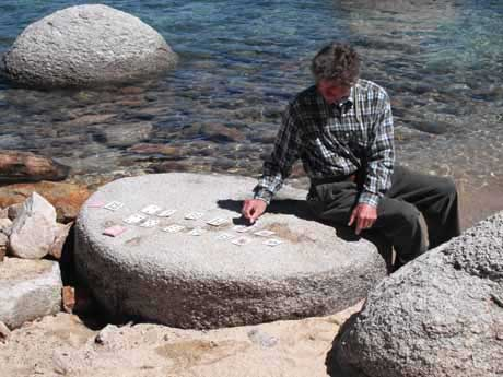McAvoy Layne at the Faro Table, Clems Cove, Lake Tahoe Nevada