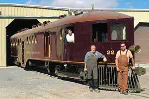 The last of the McKeen Cars, V&T #22, Nevada State Railroad Museum, Carson City Nevada