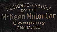 Designed and Built by the McKeen Motor Car Company, Omaha, Neb.