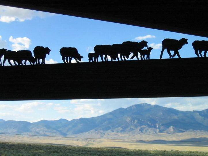 metal work at ranching exhibit