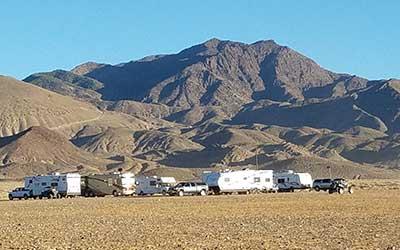 Camp at Mina Nevada