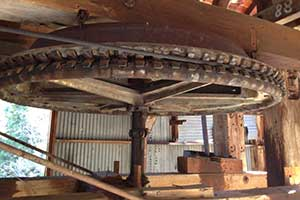 Hamilton mine cable wheel