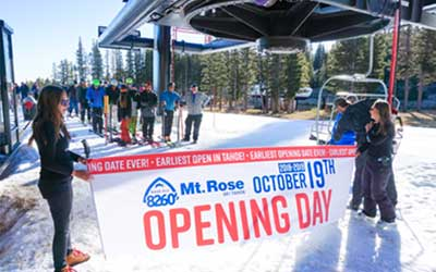 Mount Rose is Open