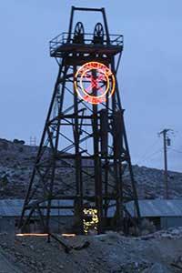 New York Mine head frame 2015, Gold Hill Nevada